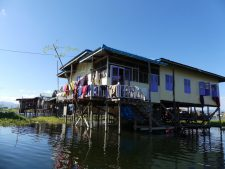 A stilt house on Inle Lake
