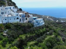 The village of Kardiani clinging to the terraces