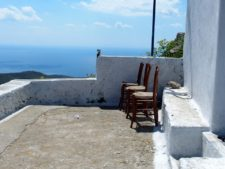 View from a terrace of one of the many churches on the island