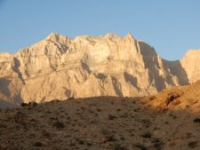 Al-Hajar Mountains, in the north of the country