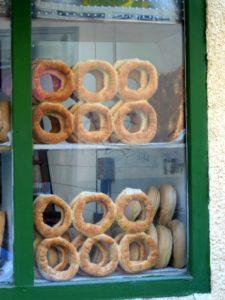 Koulouria, typical sesame breads